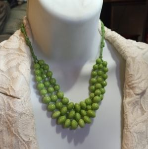 Green triple strand Necklace
